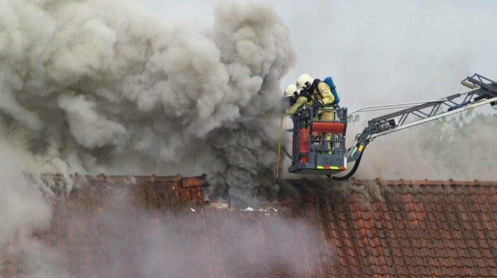 Fire men house