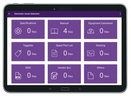 Asset Information tablet